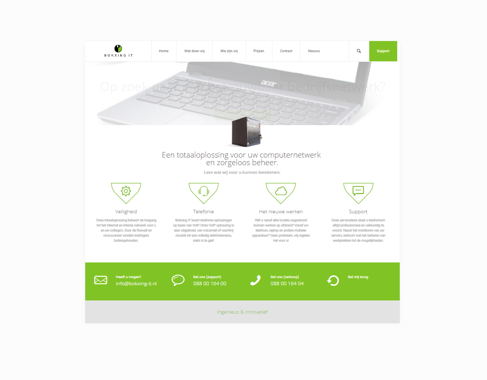Nieuwe website bokxing-it